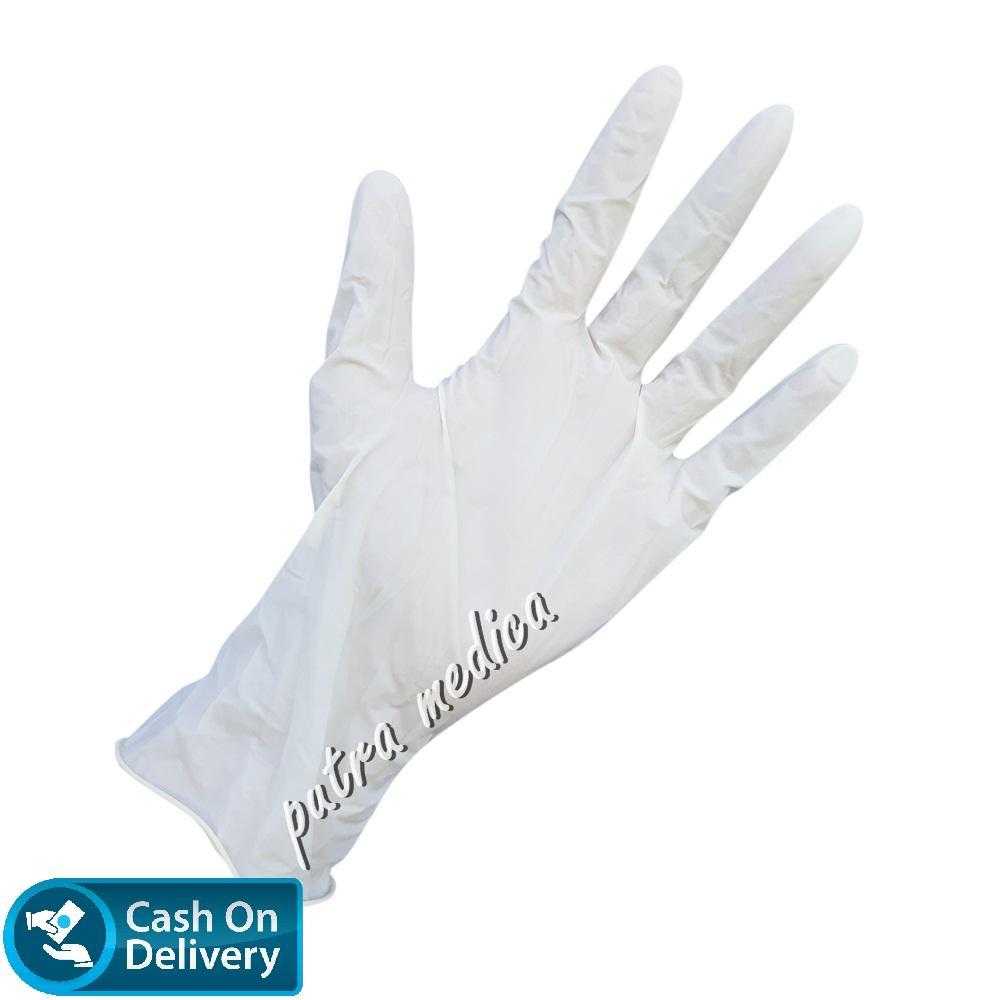 Putra Medica Safeguard Handscoon Disposable S [Putih] - 1 Box / Sarung Tangan Karet Latex Non Steril Sekali Pakai / Handscon / Handskun