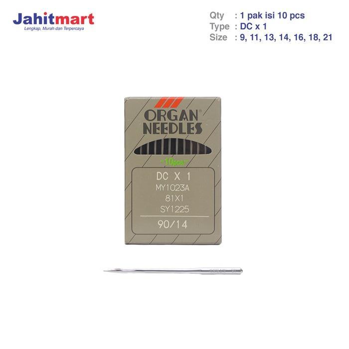 ORIGINAL JEPANG JARUM ORGAN / JARUM MESIN JAHIT INDUSTRI TYPE DC X 1