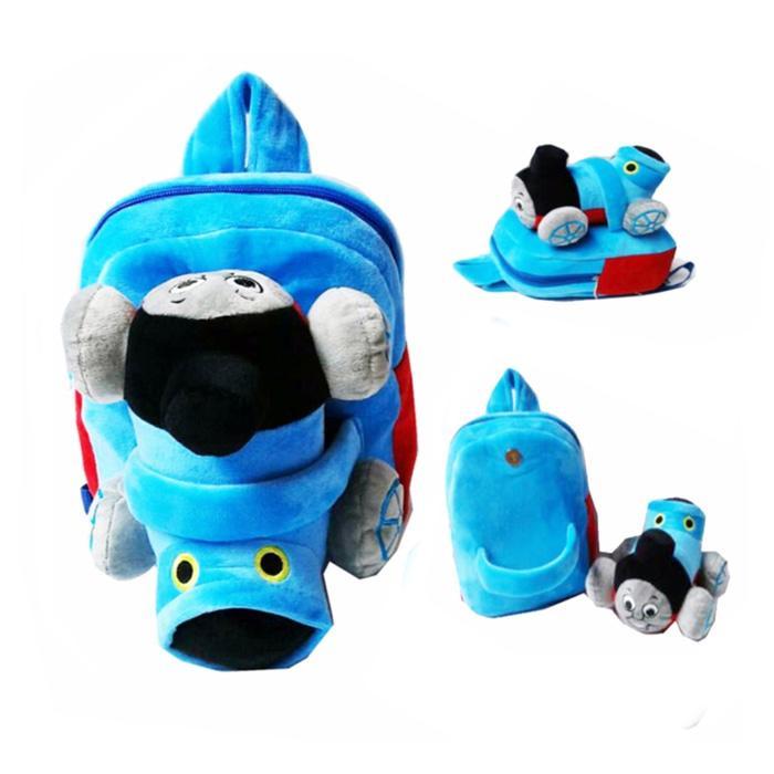 Toylogy Thomas Tas Ransel Sekolah Anak TK / Paud - Boneka Timbul Kereta Biru