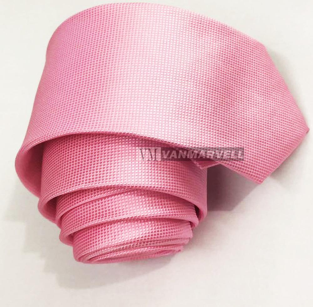 Gambar Produk Rinci VM Dasi Pink Polos Bintik Halus Slim Terkini