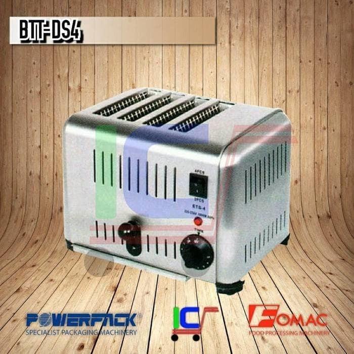 Mesin Panggang Roti Tawar 4 Lubang Bread Toaster Fomac BTT-DS4