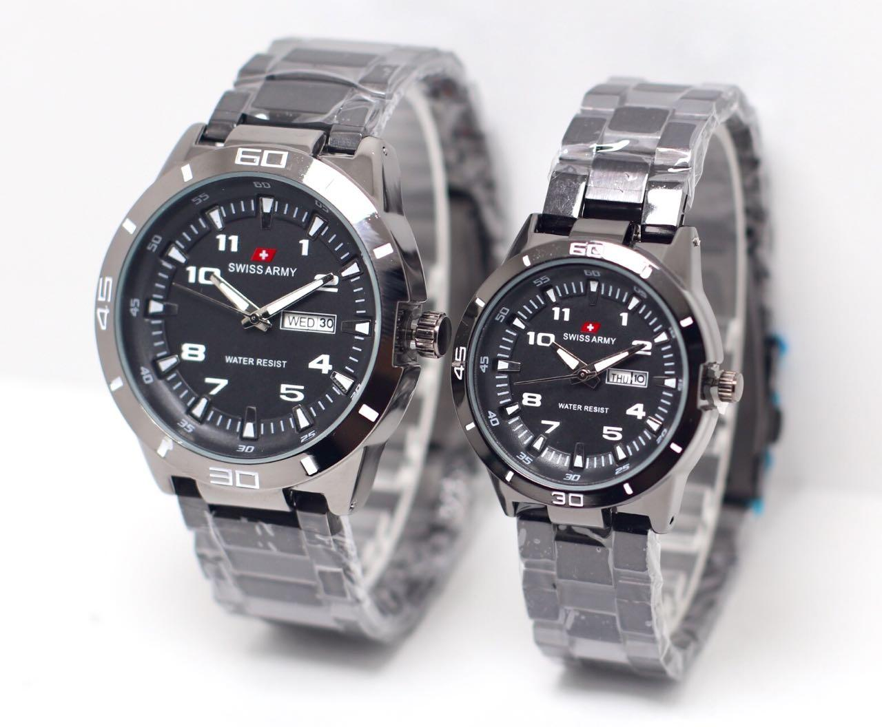 Swiss Army SA5099M New Limited Edition - Jam Tangan Couple - Stainlesstell Strap [Hitam]