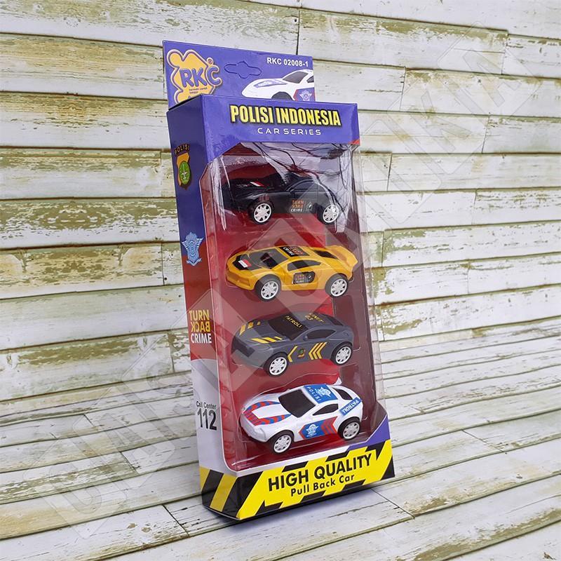 Set 4 Polisi Indonesia RKC02008-1 - Mainan Anak Mobil-Mobilan Pullback