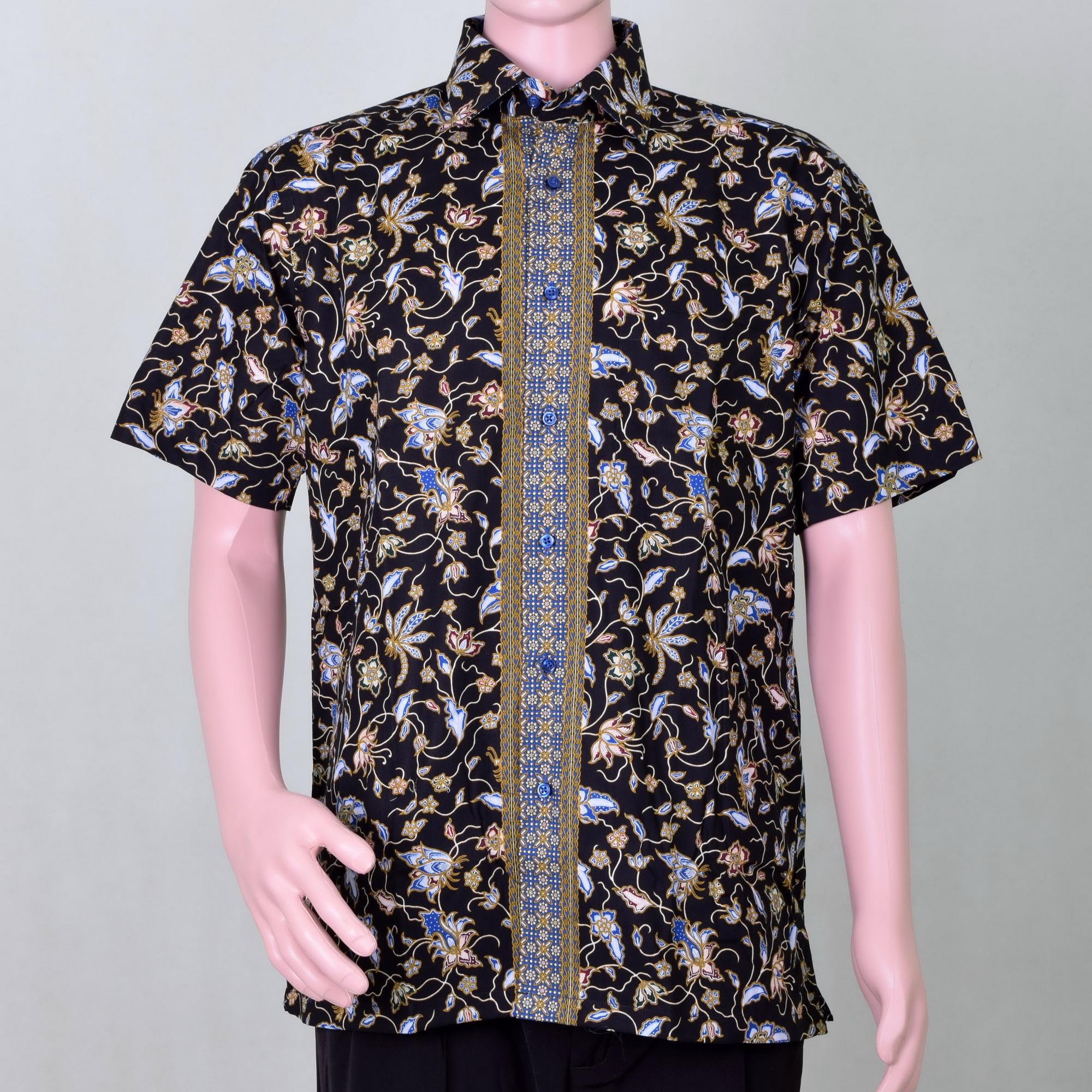Alisan - Kemeja Batik Pendek - Hitam