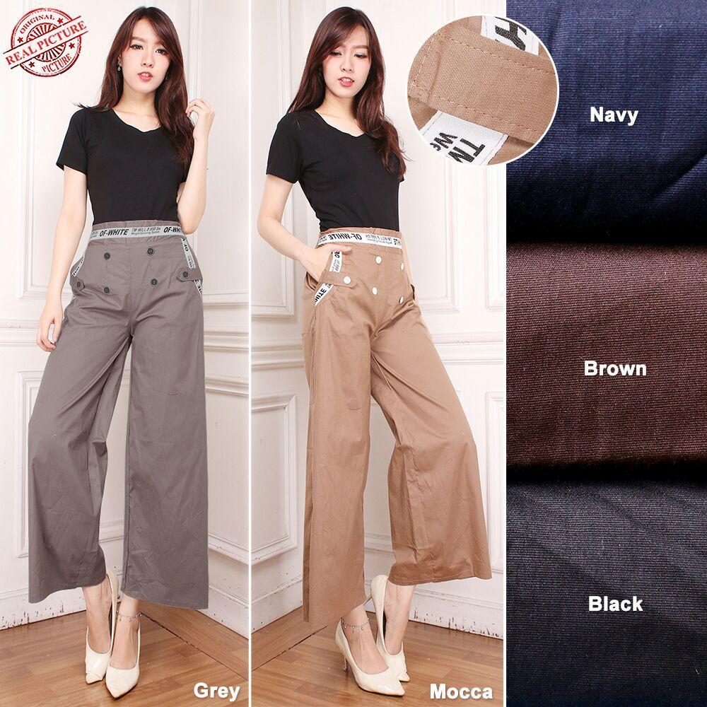 Cek Harga Baru Glow Fashion Celana Hamil Panjang Wanita Jumbo Long Kulot Pant Tini