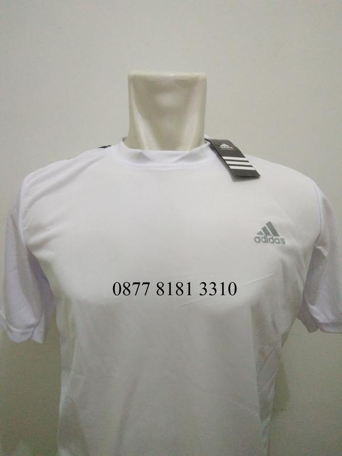 Kaos Olahraga / Running / Fitness / Futsal / Basket Drifit - Putih