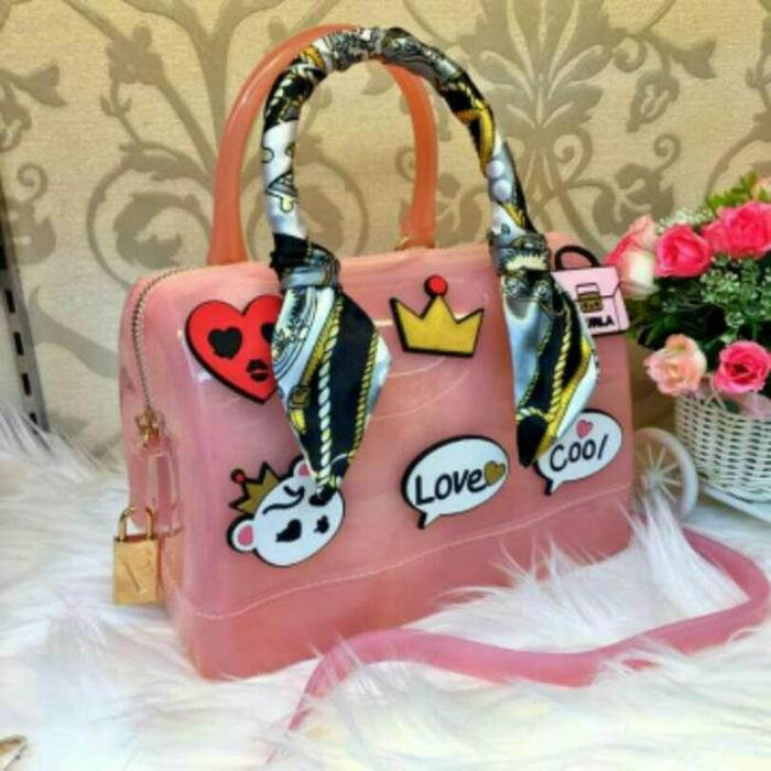 FURLA JELLY LOVE / tas fashion gaul keren murah - F3zhfj