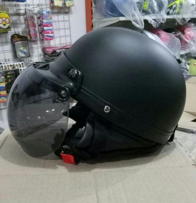 helm kyt / helm bogo / helm full face / helm ink / helm sepeda /helm motor/helm nhk/helm retro/helm anak/helm gm Helm Chips Retro Bogo Vespa Hitam Dof Dop Polos