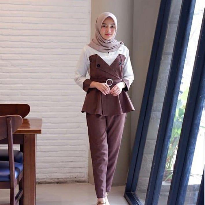 Baju Muslim Modern Andara Set Tunik Balotelly Panjang Blouse Casual Hijab  Tunic Pakaian Terbaru 2018 Modern ce91967a7b