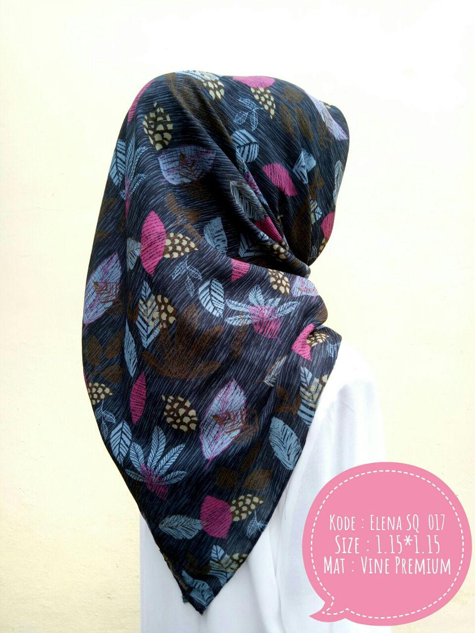 Elena Leaflo SQ Jilbab Motif Kerudung Segi Empat Abstrak Murah Kualitas Premium by Nggemesin Hijab