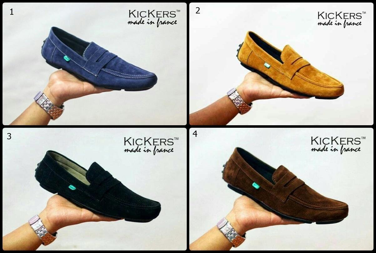 Promo sepatu pria slop kickers casual sneakers import kulit suede original Diskon