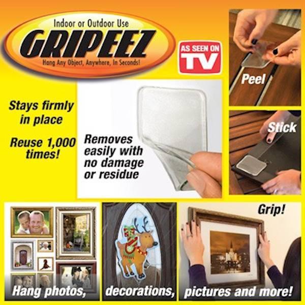 Gripeez (As Seen On Tv) Perekat Serba Guna Tanpa Meninggalkan Bekas