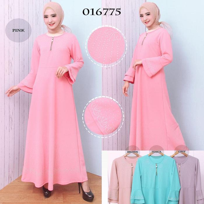 Kenzmal- Maxi Gamis Dress Baju Muslim Wanita Gamis Polos Gamis Pesta Gamis Remaja Babat Crepe Variasi Motek 6775