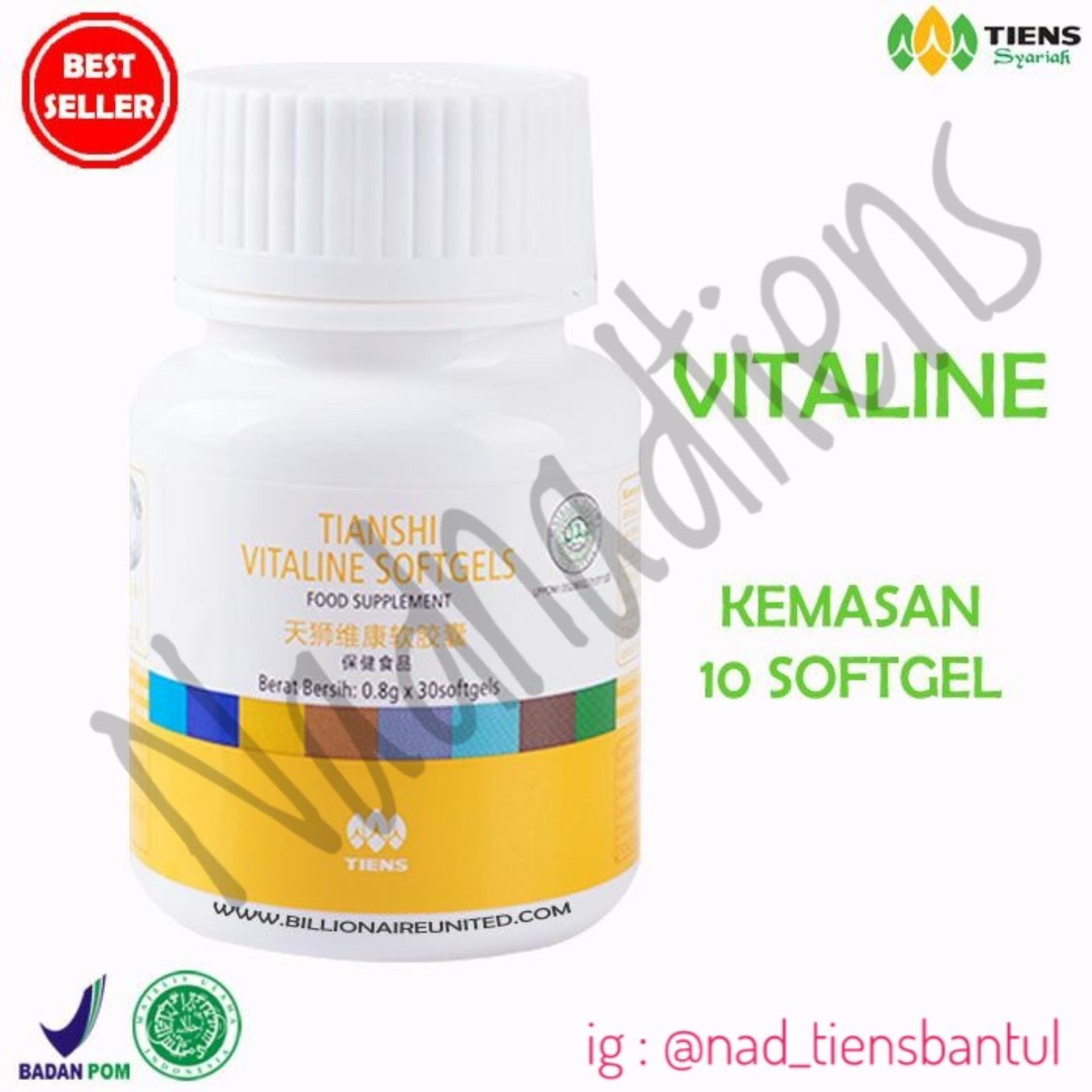 Tiens Vitaline Softgel - Serum Masker Pemutih Wajah - 10 Kapsul  NadnadTiens