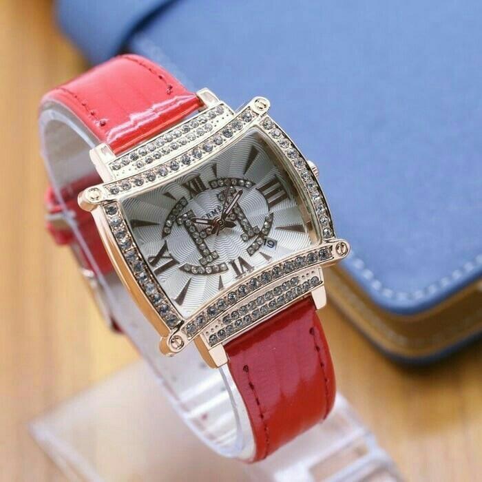 best seller jam tangan wanita murah hermes / jtr 1094 merah NEW