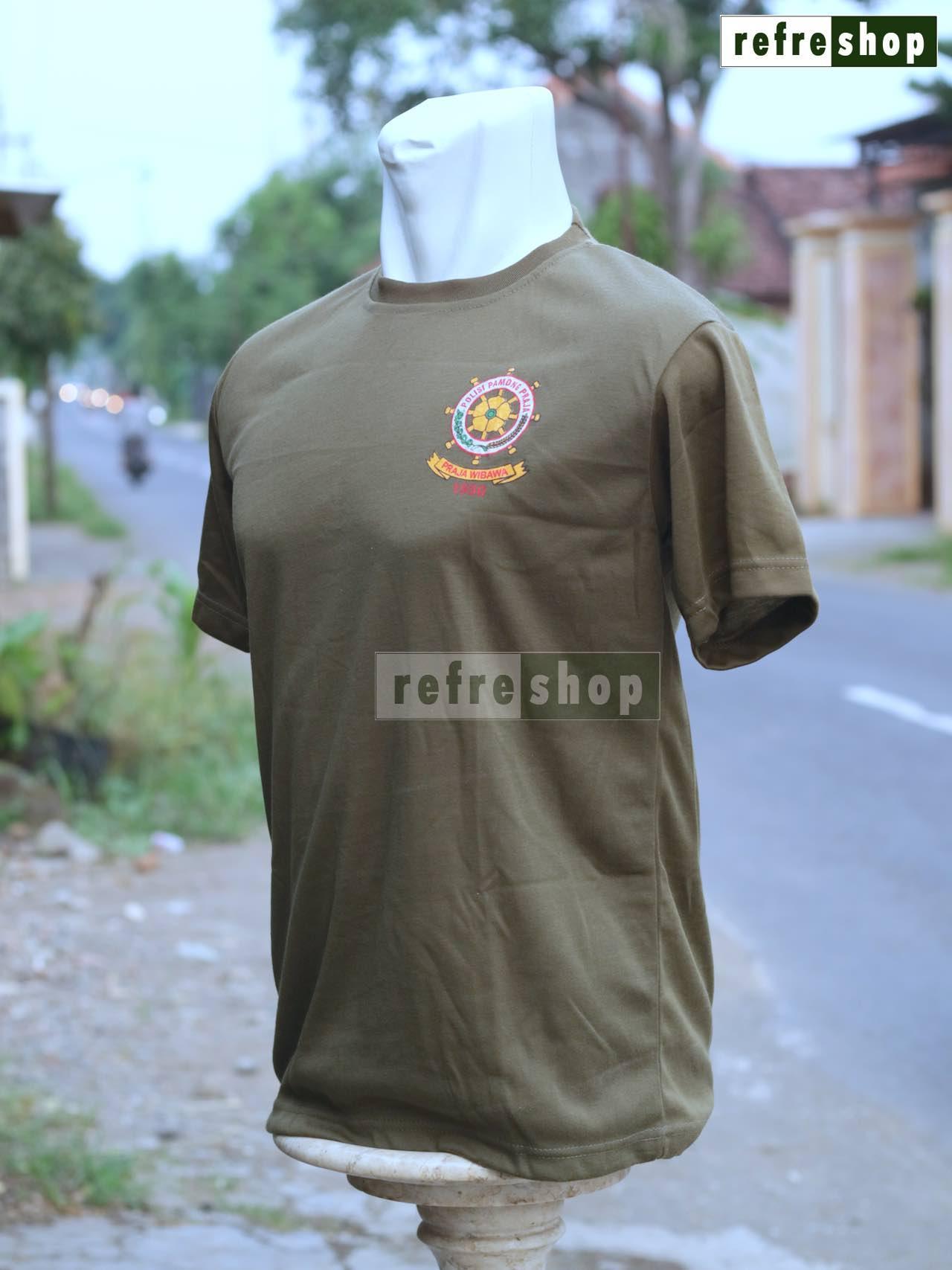 Detail Gambar Kaos Polisi Pamong Praja Satpol PP Lembut Nyaman Berkualitas KPPE0205DD Terbaru