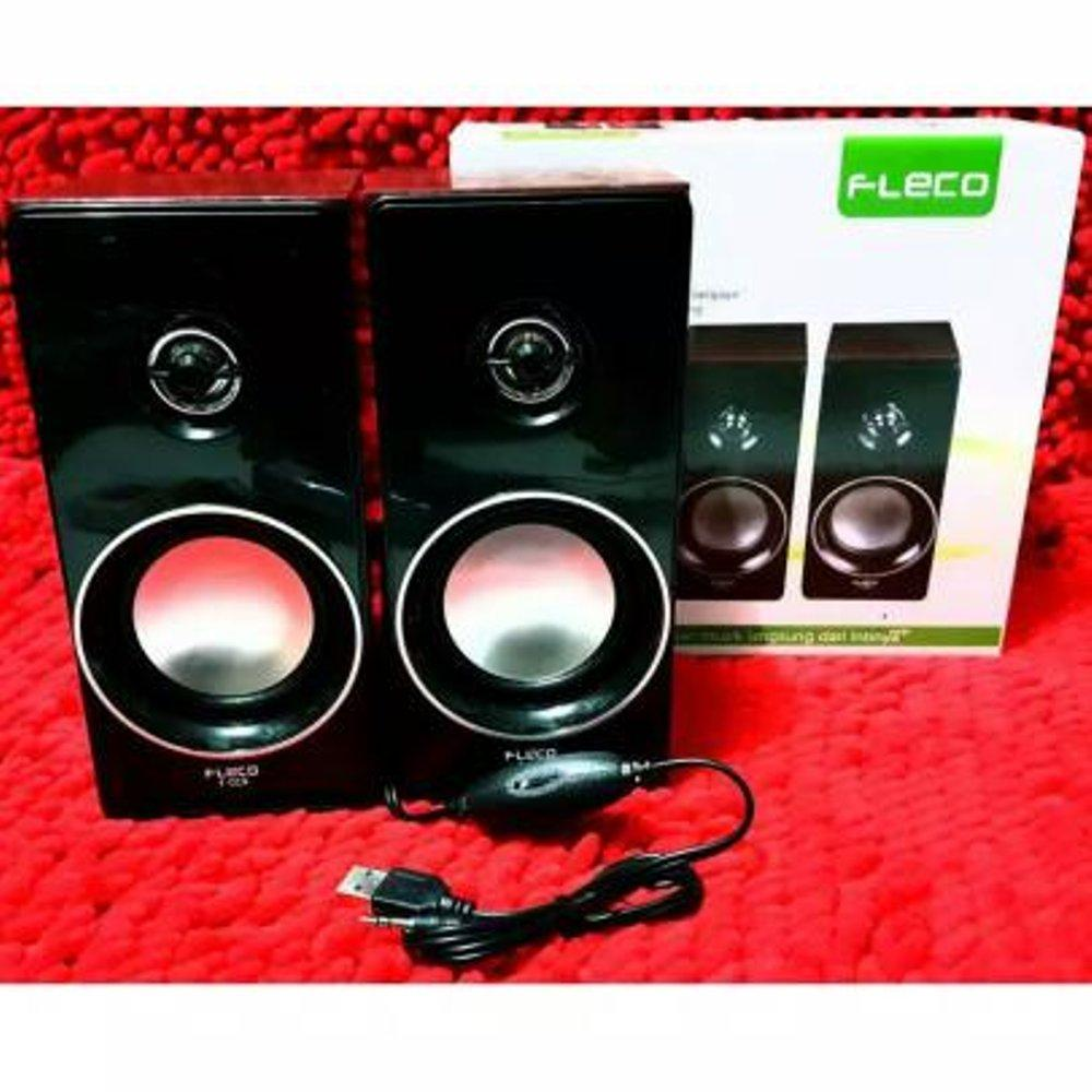 Speaker Aktif Mini Fleco F-023 Extra Power Sound-Speaker Digital Komputer/HP