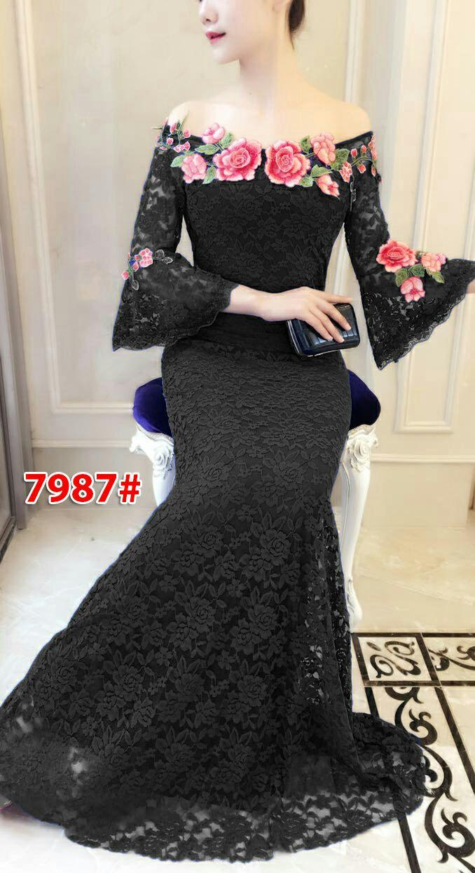 7987# baju pesta import  / gaun pesta import / baju pesta brokat / longdress fashion import / gaunpanjang