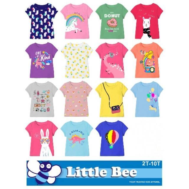 Kaos anak cewe/perempuan murah merk Little Bee