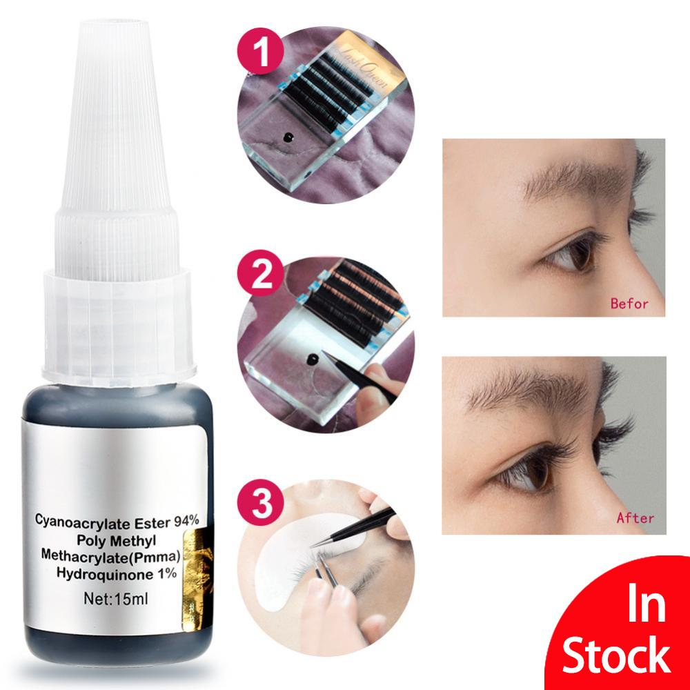 【Buy 1 Free 1】Natural Fast Dry Eyelash Extension Glue Super Glue Eyelash Grafting Instant Super Sticky Glue - intl
