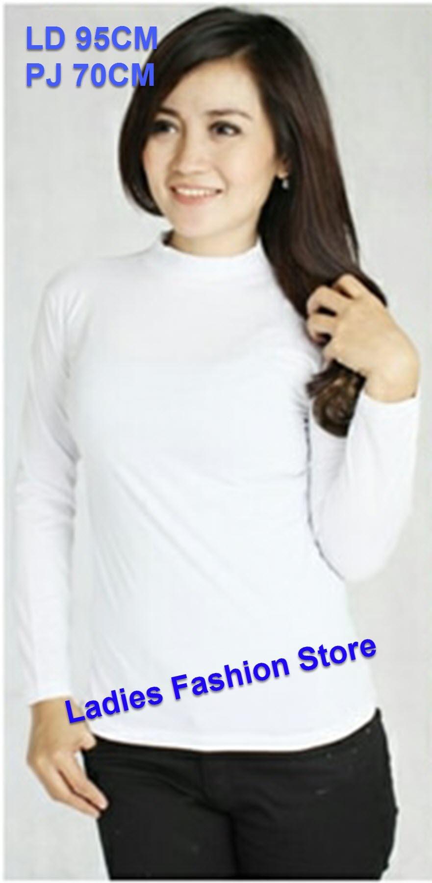 Baju Manset Kaos Wanita High Neck Lengan Panjang   Baju Wanita   Blouse  Korea   Atasan Wanita   Baju Formal   Kemeja Wanita   Kemeja Formal    Atasan Muslim ... 790748ebe5