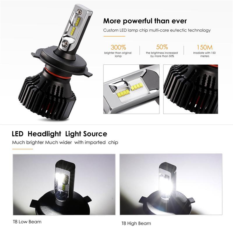 ... Partol Enam Flange H4 H7 9005 HB3 9006 HB4 H11 LED Bohlam Lampu 60 W 8000LM ...