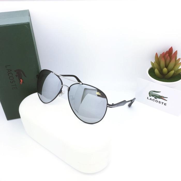 Kacamata / Sunglass Pria Lacoste Sr-158 Fullset + Cairan Pembersih