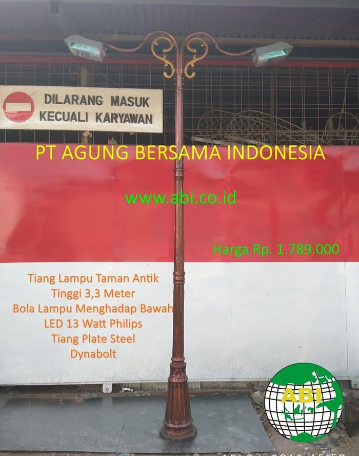 Tiang Lampu Taman Jalan H33 meter