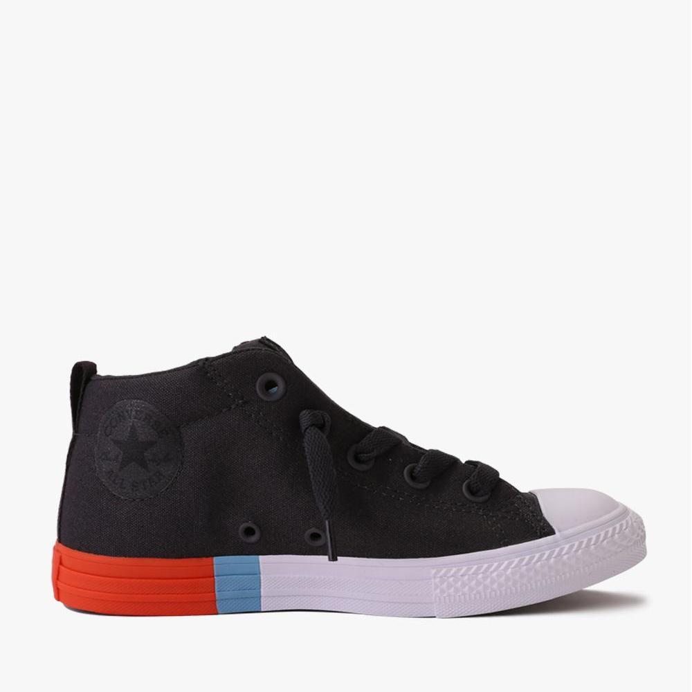 Converse Chuck Taylor All Star Street Mid Sepatu Sneakers Anak - Hitam