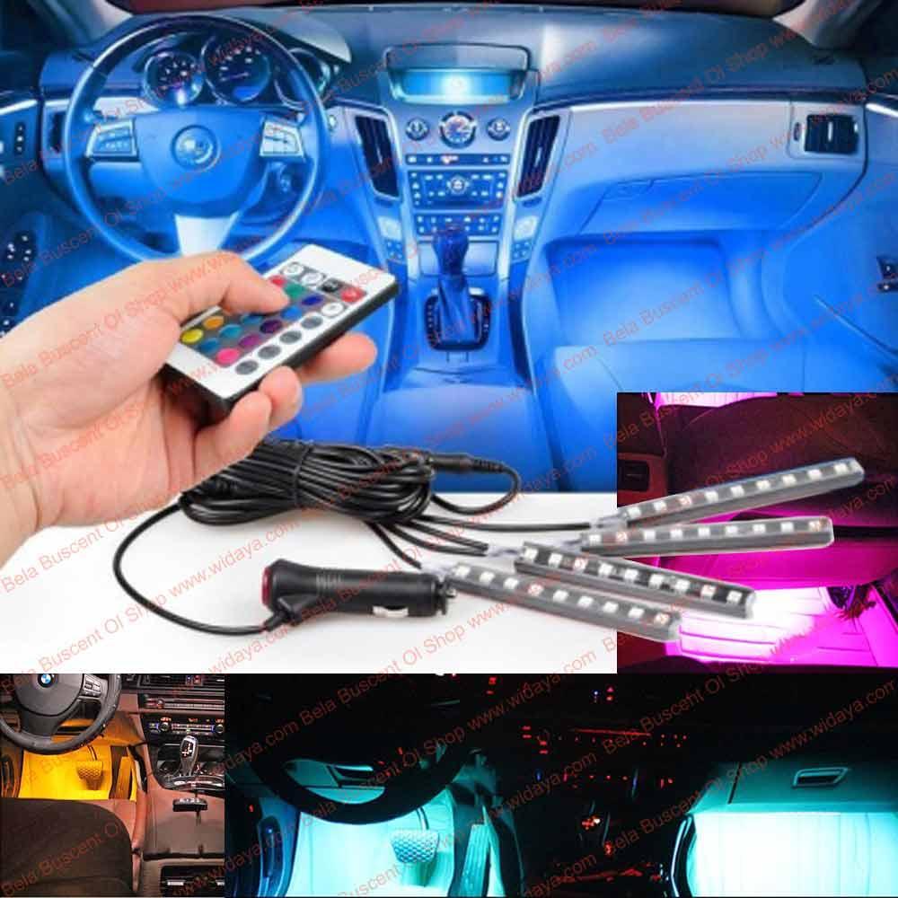 [BBOS] Led Kolong Multi Warna Jok Dashboard Mobil - Lampu Kabin Mobil 4 Batang