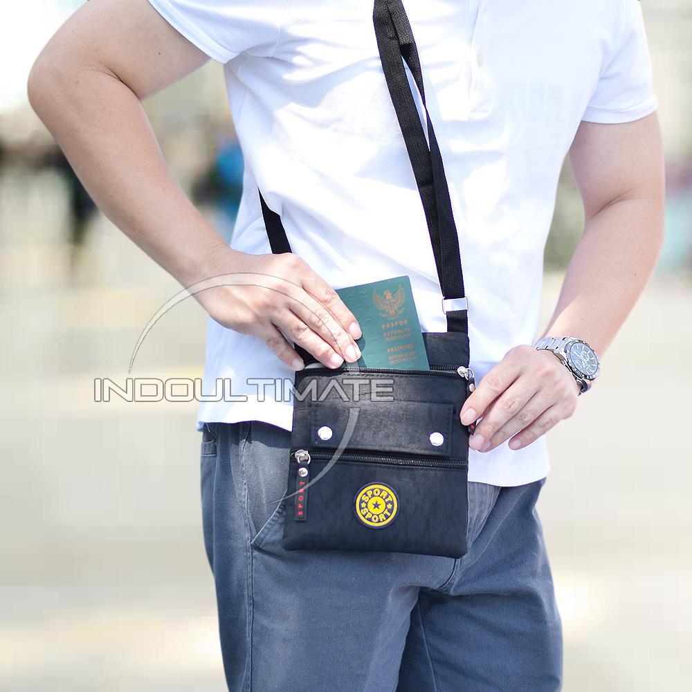 Tas Selempang Pria Kualitas Import/Unisex/Tas Punggung Slempang/Sling Bag JSL-016 - Black