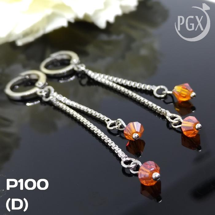 P100 Anting Panjang / Anting Korea Xuping - Perhiasan Lapis Emas 18K - Fasionable - Best Seller