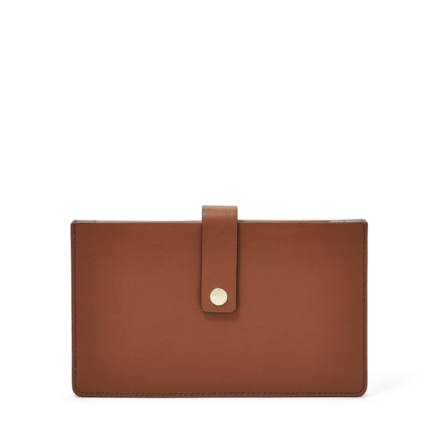 Fossil - Vale Medium - Wallet Leather - Brown - Dompet Wanita - SL7556-200 6303d4b160