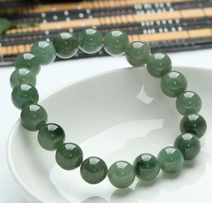 Emerald Alam Gelang Giok Asli Myanmar Giok Giok Kargo Manik-manik Hijau .