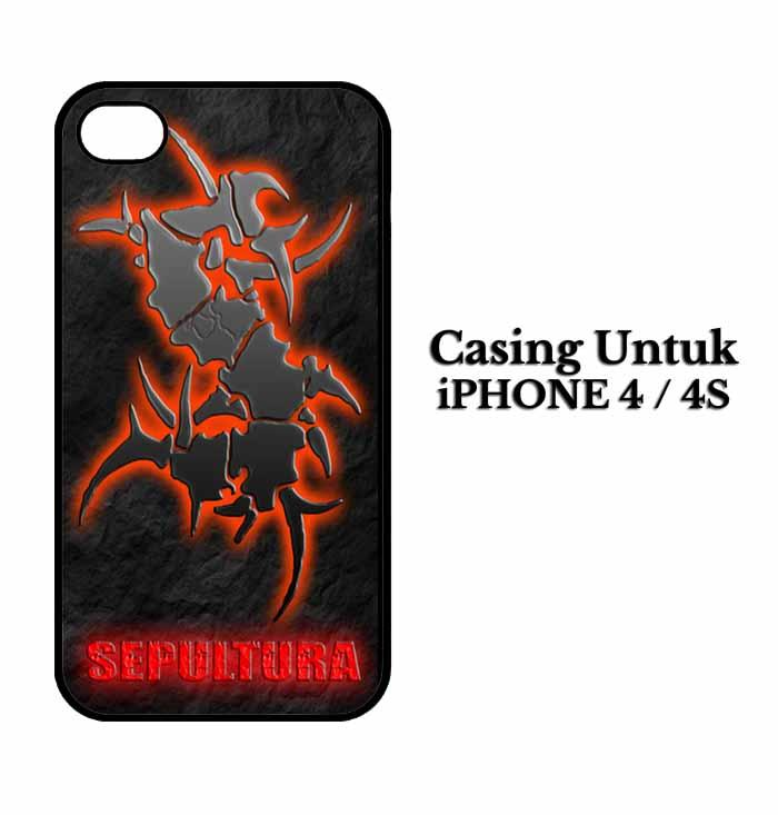 Casing IPHONE 4 sepultura Hardcase Custom Case Se7enstores