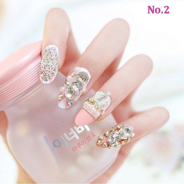 Wedding fake nail - Kuku palsu best seller - kuku palsu terlaris - kuku palsu elegant