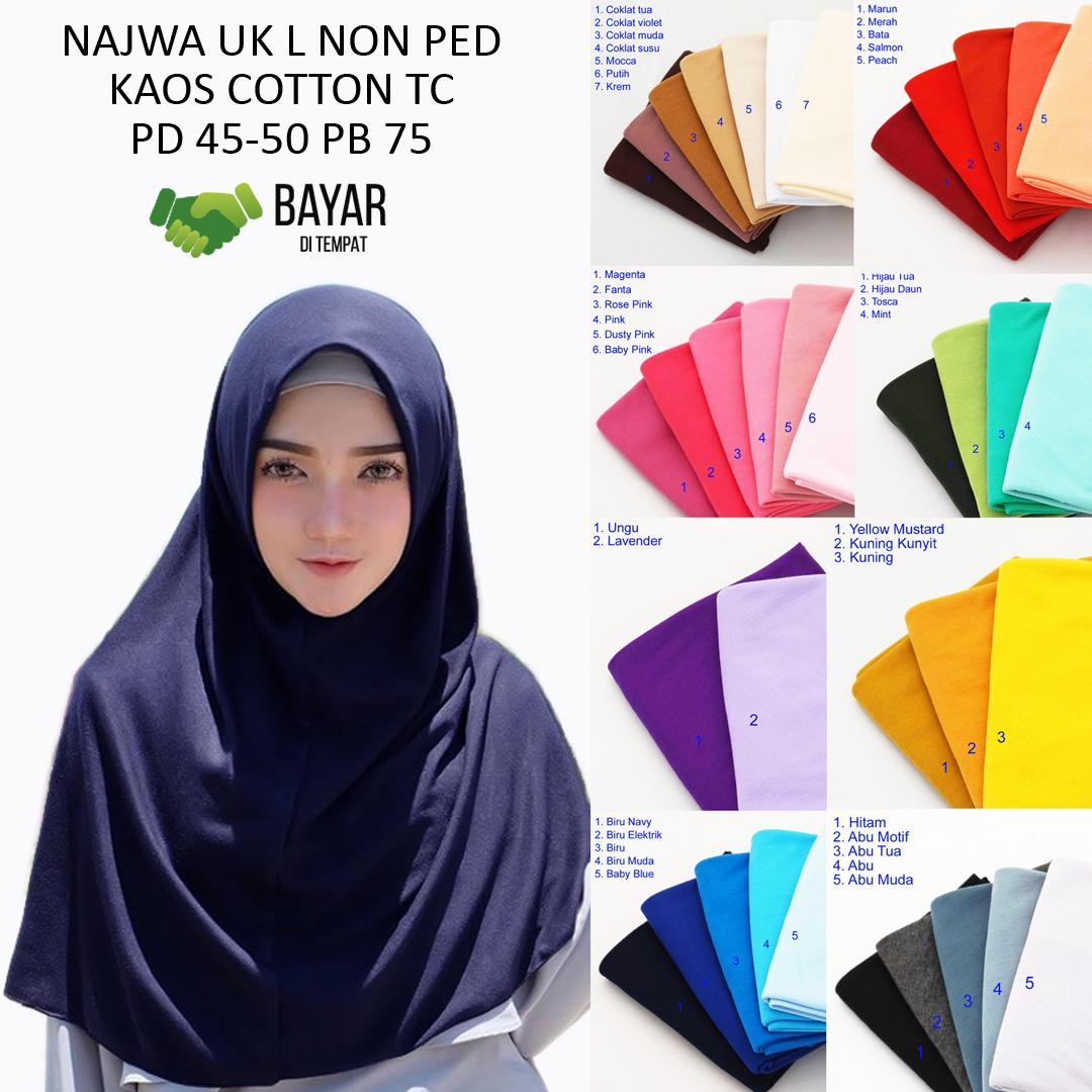 Hijab Kerudung Jilbab Instan Najwa Dapat 4 Pcs - Kerudung Murah  - Jilbab Kaos Katun TC Premium