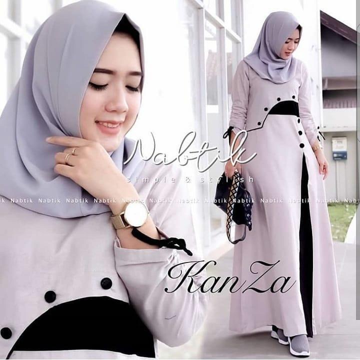 Gamis Kanza Dress Balotelly Baju Wanita Panjang Muslim Casual Wanita Pakaian Hijab Modern Baju Gaun Pesta Modis Trendy Baju Model Terbaru 2018