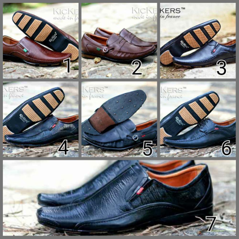 Jual sepatu pesta kerja pria kickers pantofel kulit asli Fashion