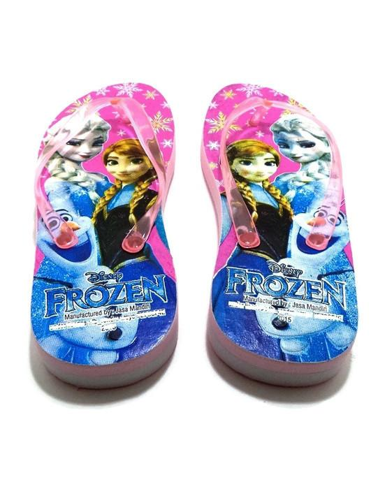 Fashion Sandal Jepit Anak Karakter Kartun Frozen - Pink