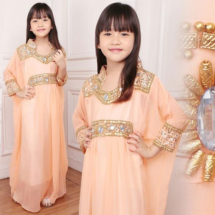 Promo Sale KR- Kaftan Adriana Kid Peach Termurah