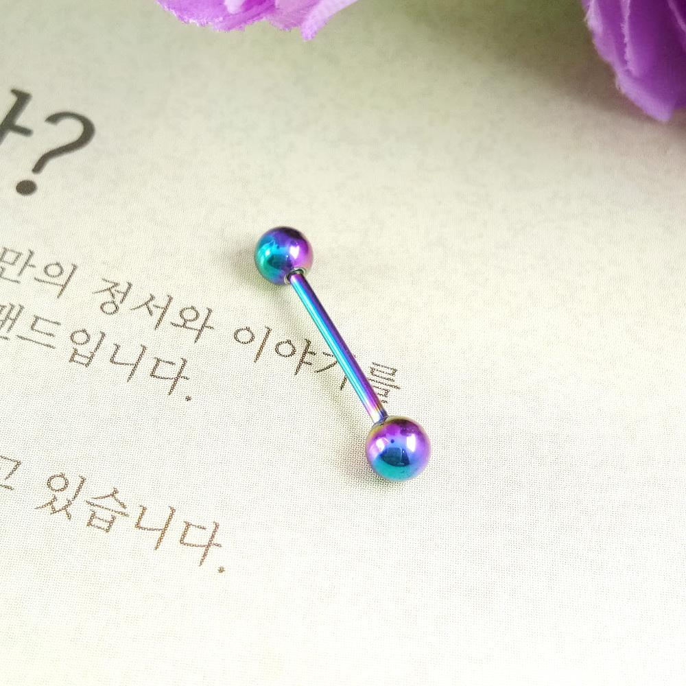 Anneui - BP0085 - anting piercing tusuk model korea - Rainbow
