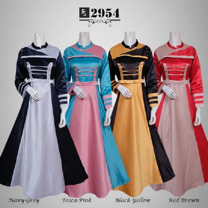 Toko Kirana Surabaya Gamis maxi dress baju gaun pesta busana muslim Zivana 954