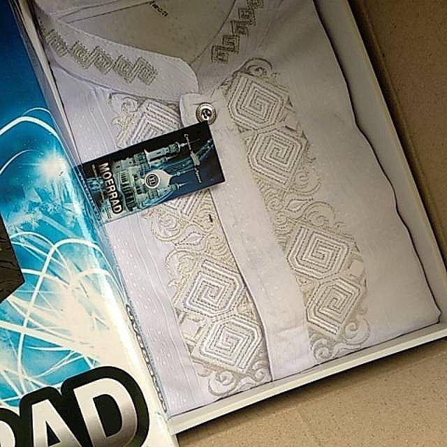 Baju Kokoh Pria Putih Termurah Di Lazada - Kemeja Muslim Lengan Panjang Termurah - BONUS DUS EXCLUSIVE