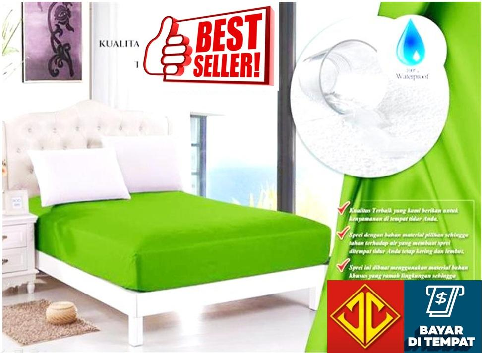 sprei waterproof anti air jaxine(sprei only)-hijau lime