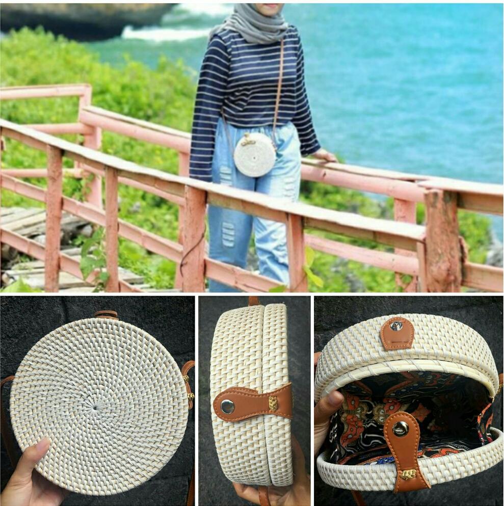 Fitur Tas Bali Koin Slempang Selempang Etnik Lombok Ungu Fexoev Dan Bunga Rotan Diameter 20 Cm