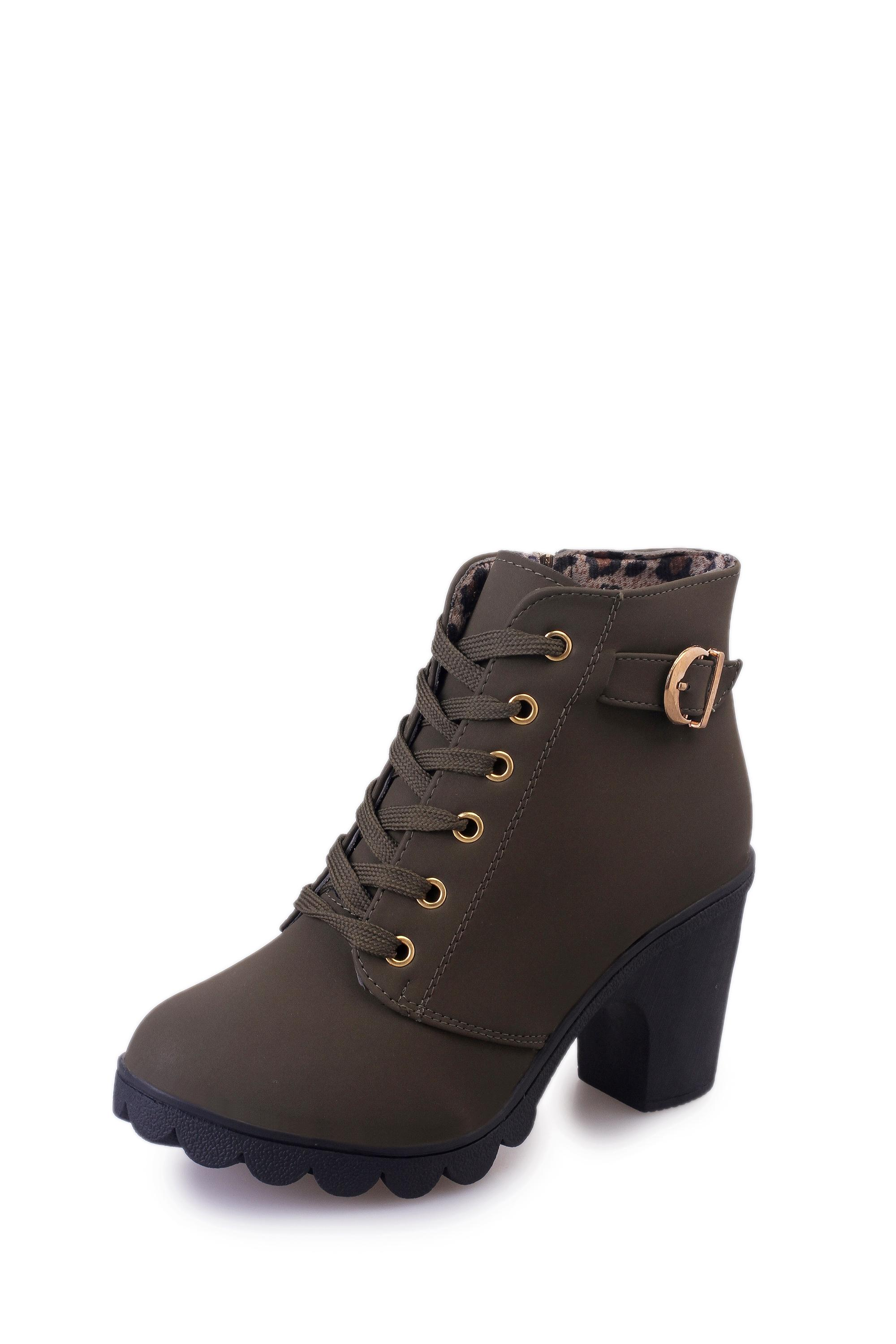 57968e019 Europe And America Spring And Autumn New Style High-Heel Martin Boots