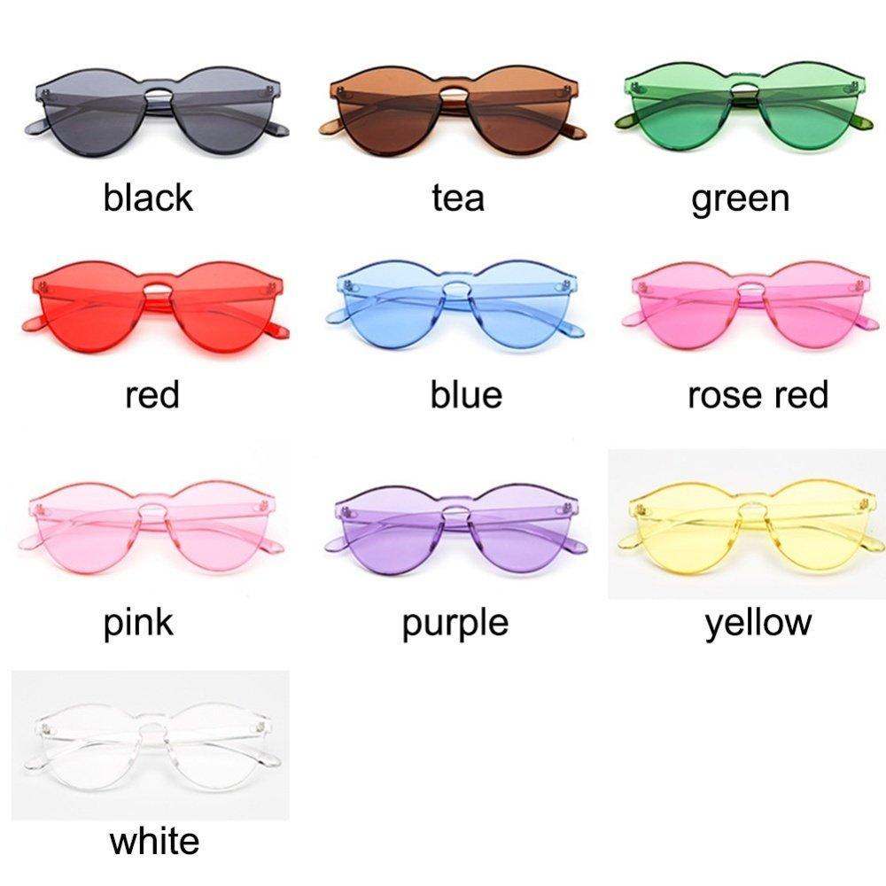 Female Frameless Kopel Kacamata Jelly Korea Sunglasses Colour Full ... 6ae635bca4