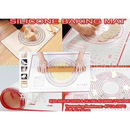 Silicone Baking Mat 60X40cm Oven Adonan Giling Fondant Cake Kue Heat - Dapurmamadina