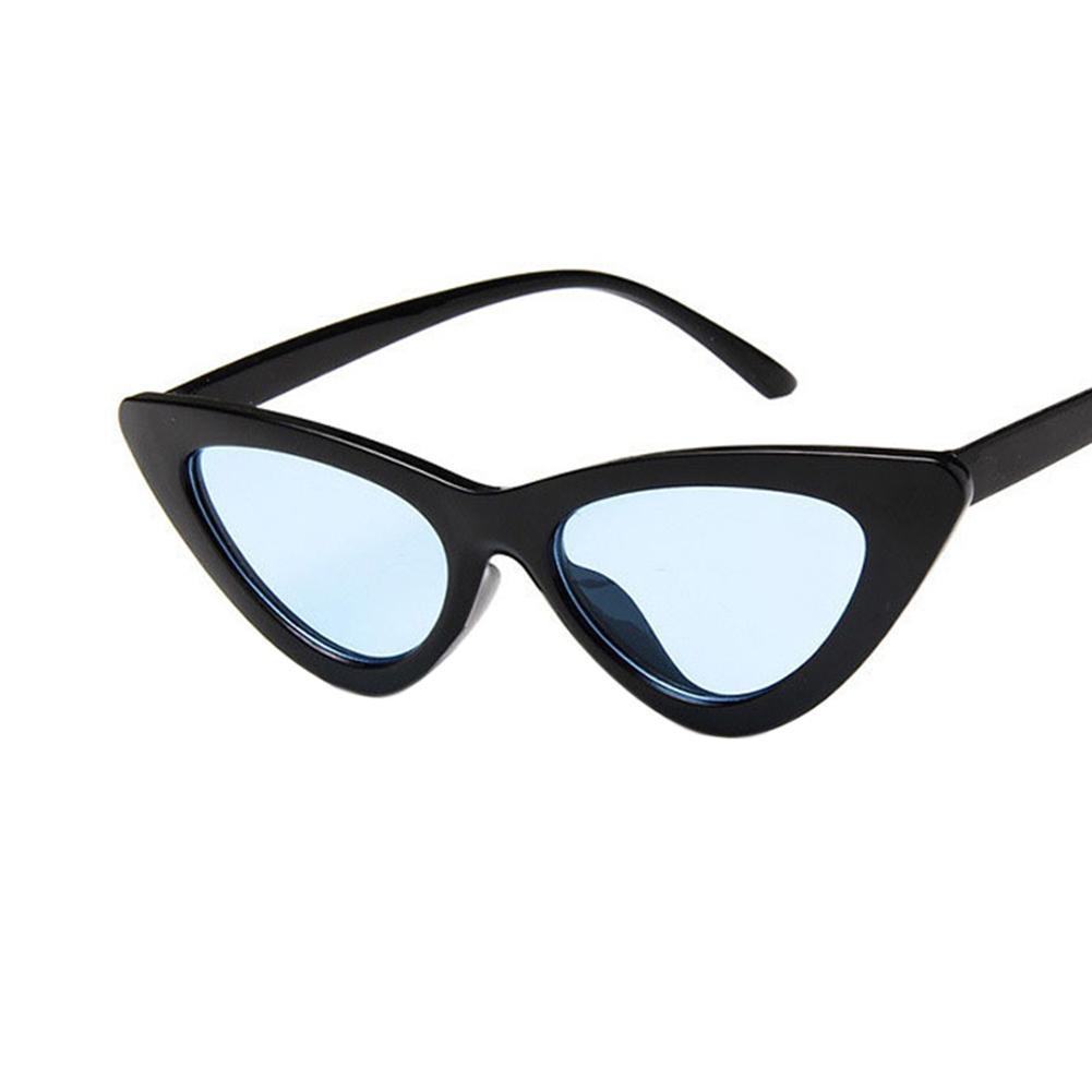 Retro Triangle Kucing Mata Kacamata Hitam UV400 Bersih Vision Kacamata Kacamata Hadiah Hari .